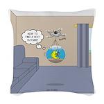 Fishbowl Drone Woven Throw Pillow