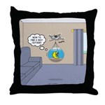 Fishbowl Drone Throw Pillow