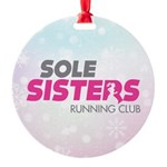Sole Sisters Running Club Round Ornament