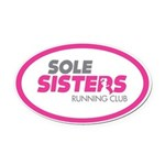 Sole Sisters Running Club Oval Car Magnet