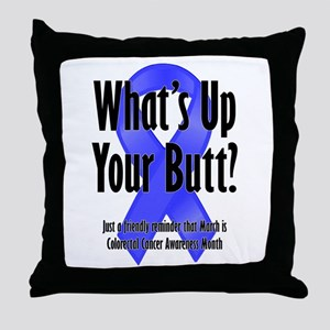 Colorectal Cancer Awareness Throw Pillow