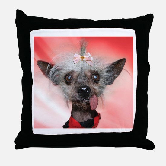 Unique Chinese crested Throw Pillow