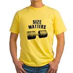 Size matters Yellow T-Shirt
