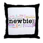 Girl's Name Throw Pillow