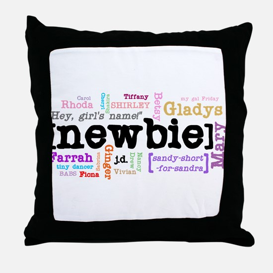 Girl's Name Throw Pillow