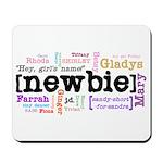 Girl's Name Mousepad