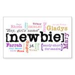 Girl's Name Sticker (Rectangle)