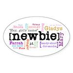 Girl's Name Sticker (Oval)