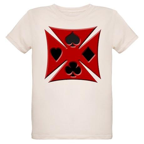 Ace Biker Iron Maltese Cross Organic Kids T-Shirt
