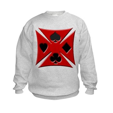 Ace Biker Iron Maltese Cross Kids Sweatshirt