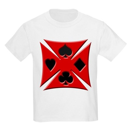 Ace Biker Iron Maltese Cross Kids Light T-Shirt