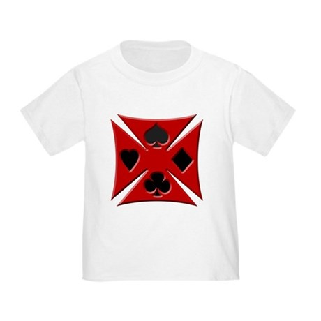 Ace Biker Iron Maltese Cross Toddler T-Shir