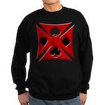 Ace Biker Iron Maltese Cross Sweatshirt (dark)