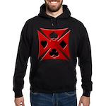 Ace Biker Iron Maltese Cross Hoodie (dark)