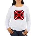 Ace Biker Iron Maltese Cross Women's Long Sleeve T