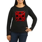 Ace Biker Iron Maltese Cross Women's Long Sleeve D