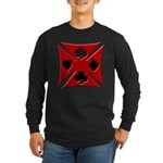 Ace Biker Iron Maltese Cross Long Sleeve Dark T-Sh