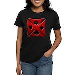 Ace Biker Iron Maltese Cross Women's Dark T-Shirt
