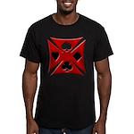 Ace Biker Iron Maltese Cross Men's Fitted T-Shirt