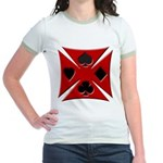 Ace Biker Iron Maltese Cross Jr. Ringer T-Shirt