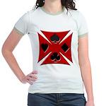 Ace Biker Iron Maltese Cross Jr. Ringer T-Shirt
