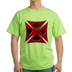 Ace Biker Iron Maltese Cross Green T-Shirt