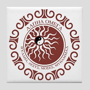 ALPHA OMEGA Tile Coaster