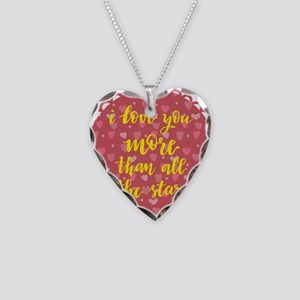 i love you more than all the Necklace Heart Charm