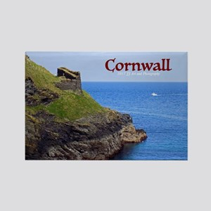 Cornwall - Tintagel Ruins Rectangle Magnet Magnets