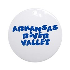 Arkansas River Valley 2 Ornament (Round)