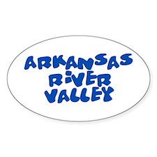 Arkansas River Valley 2 Oval Sticker