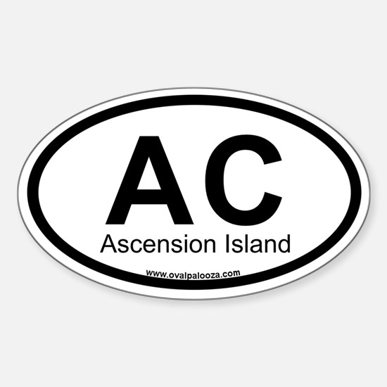 Ascension Island Sticker (Oval)