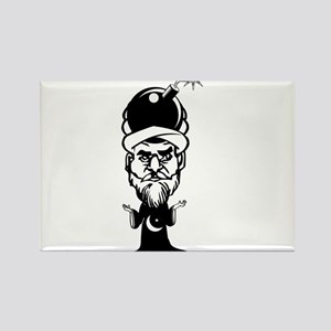 Muhammad Cartoon Rectangle Magnet