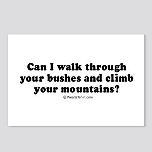 Can I walk through your bushes ~  Postcards (Packa