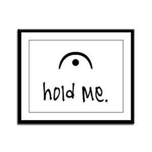 hold me (light) Framed Panel Print
