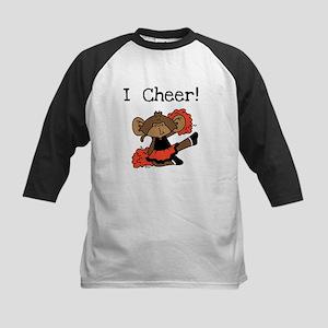 Cheerleading Orange and Black Kids Baseball Jersey