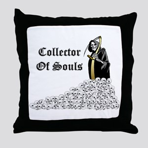 Collector of Souls Throw Pillow