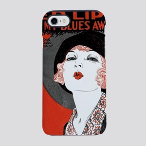 Vintage Red Lips Kiss Blues iPhone 7 Tough Case