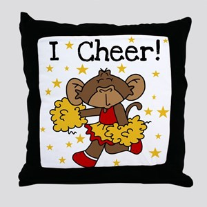 Cheerleader Red and Gold Throw Pillow