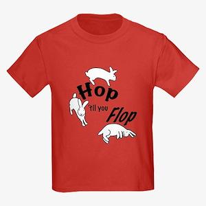 Hop Till You Flop Kids Dark T-Shirt