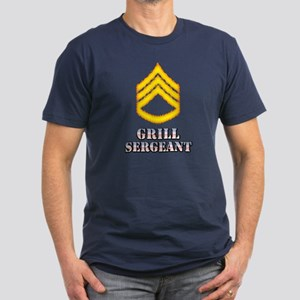Grill Sergeant Men's Fitted T-Shirt (dark)