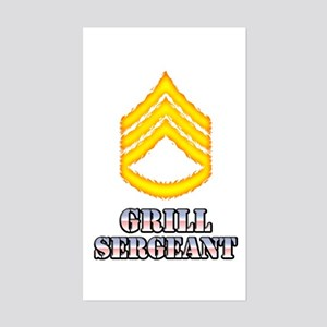 Grill Sergeant Sticker (Rectangle)