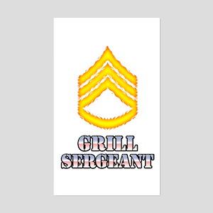 Grill Sergeant Sticker (Rectangle)