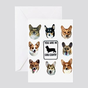 You Are in Corgi Country Greeting Card