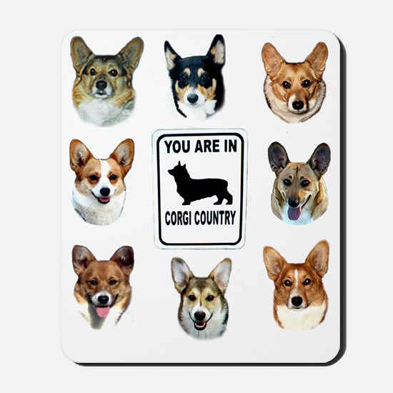 You Are in Corgi Country Mousepad