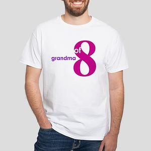 Grandma Nana Grandmother Shir White T-Shirt