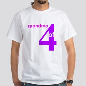 Grandma Nana Grandmother Shir White T-Shirt