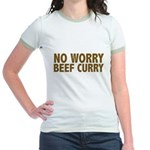 No Worry Beef Curry Jr. Ringer T-Shirt
