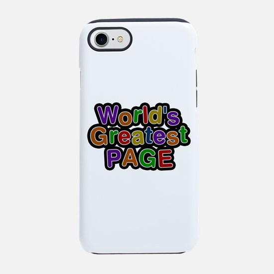 World's Greatest Page iPhone 7 Tough Case