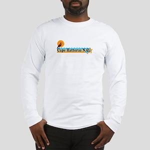 Cape Hatteras NC - Beach Design Long Sleeve T-Shir